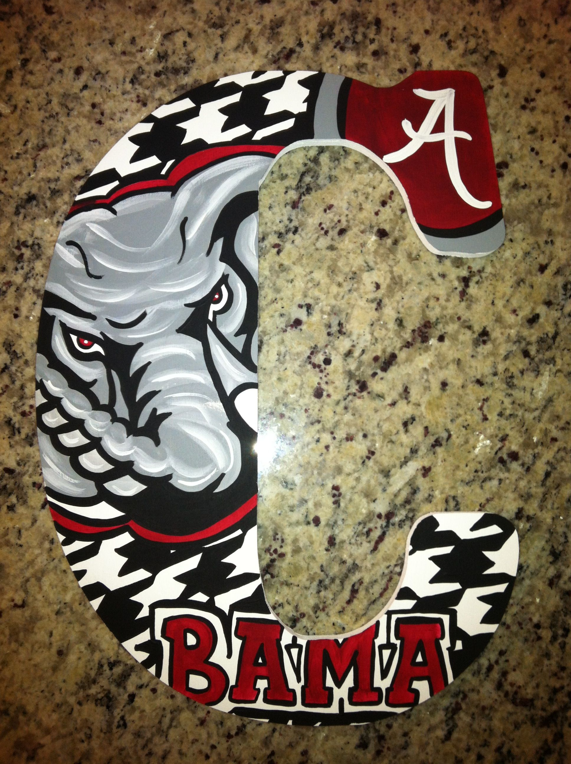Alabama Crimson Tide Custom Hand Painted Door Hanger/Letter/Wall Art & Alabama Crimson Tide Custom Hand Painted Door Hanger/Letter/Wall ... pezcame.com