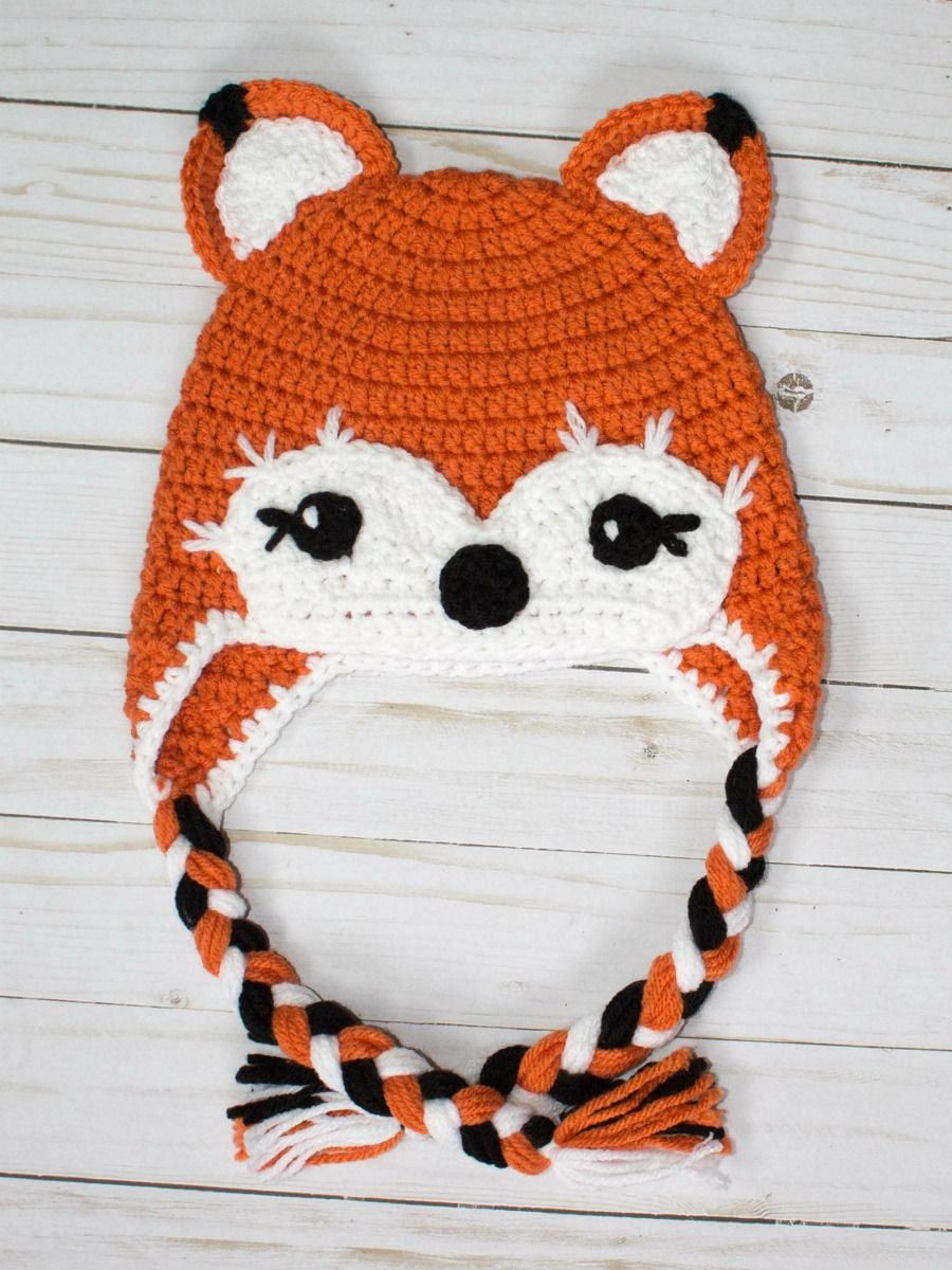 f1bcd428701 I love foxes. This free crochet fox hat pattern is therefore one of my  favorites! This is the worsted weight version of this bulky hat patte.