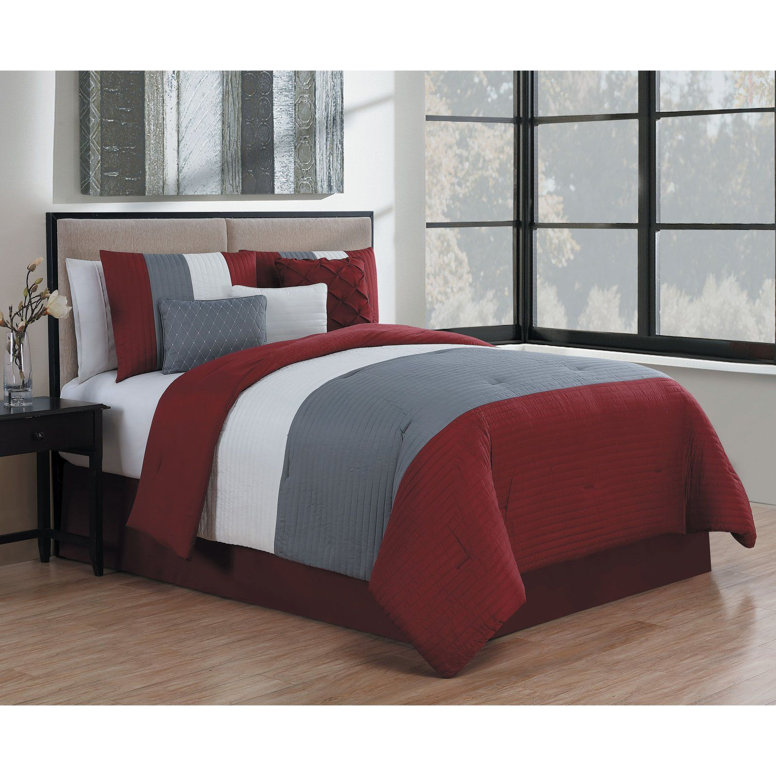 Manchester 7 Piece Comforter Set by Avondale Manor Brown