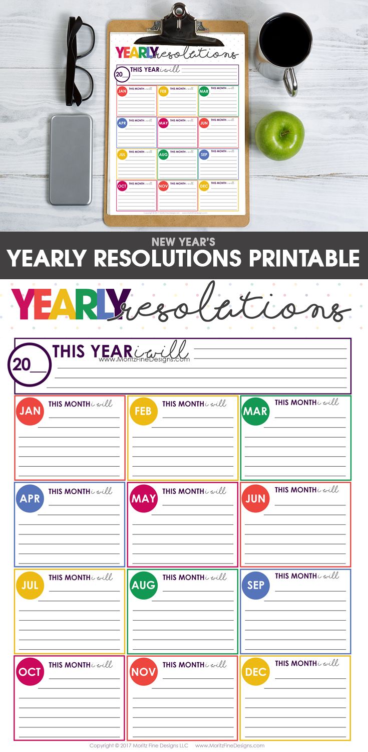 New Years Resolutions Goals Sheet Free Printable New Year Goals Goal Planning Worksheet Goals Printable
