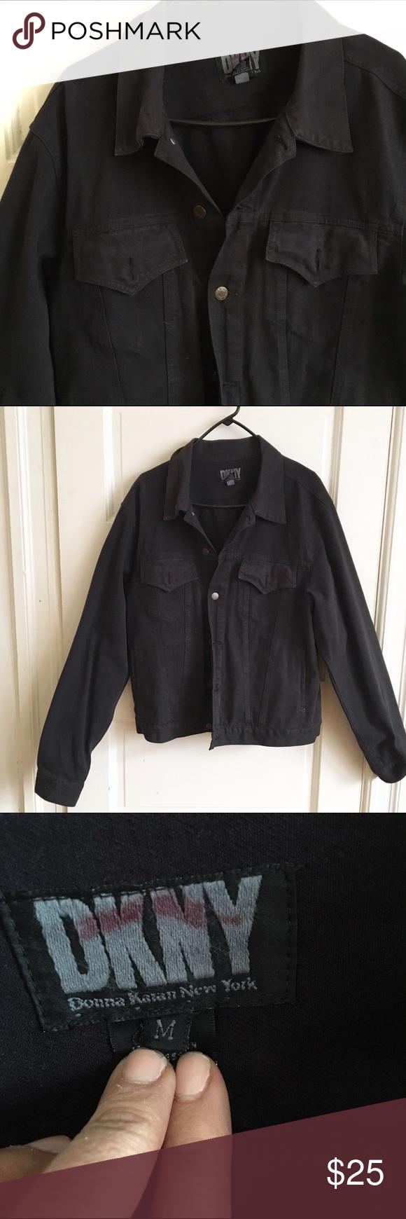 MENS DKNY DENIM JACKET MENS DKNY DENIM JACKET. Black size medium DKNY Jackets & Coats