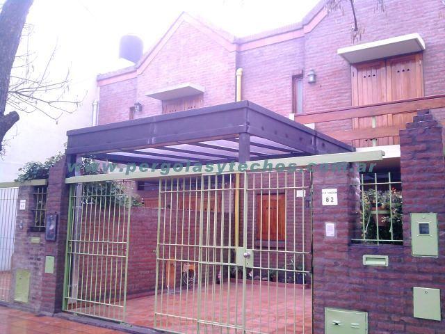 Fabrica de techos para duplex y techos para cocheras for Garajes con techos policarbonato