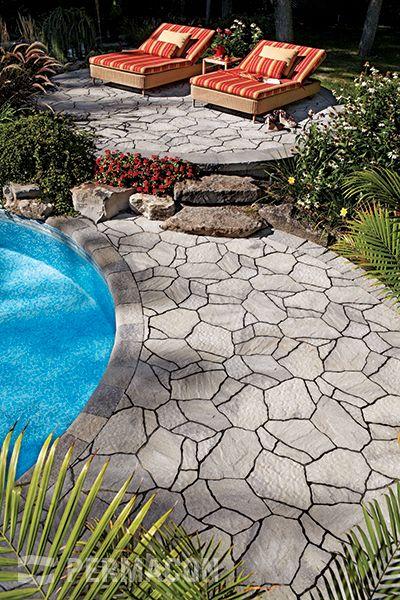 Concrete masonry  landscaping design portfolio Permacon Paving - Pave Pour Terrasse Exterieur