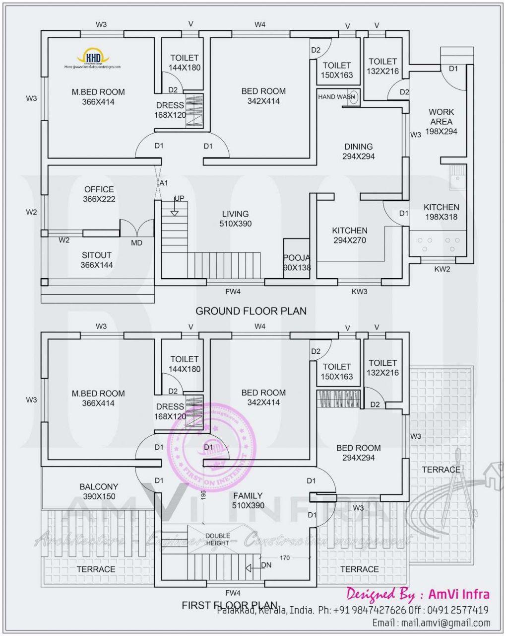 20 Modern 5 Bedroom House Plans 2019 Kerala House Design Home Design Floor Plans Bedroom Floor Plans