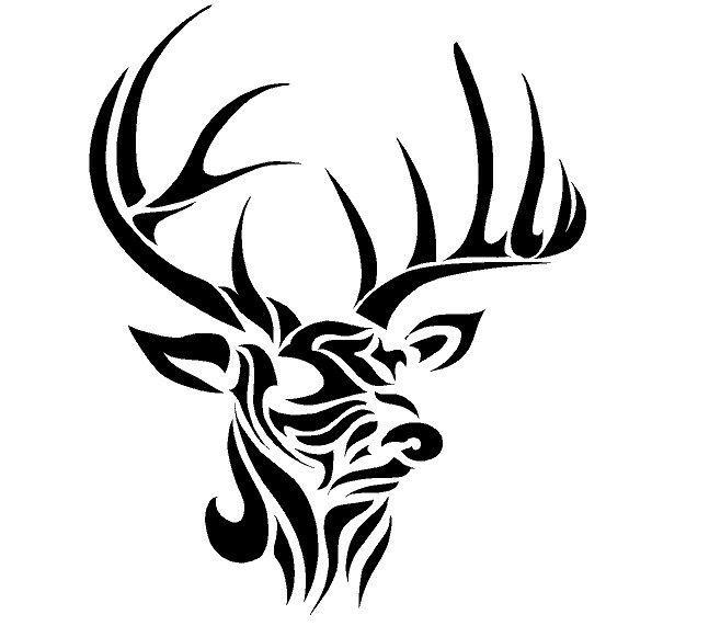 Howling Tribal Deer Tattoo Design Tattooimages Biz Elk Silhouette Deer Head Silhouette Deer Tattoo Designs