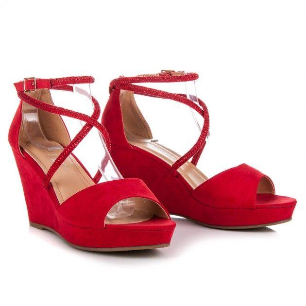 Sandále na nízkej platforme LBS2806R | Sandále