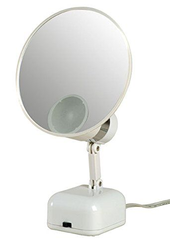 Floxite Fl 615 15x Supervision Magnifying Mirror Light White Frosted White See This Great Prod Mirror With Lights Magnifying Mirror Lighted Vanity Mirror