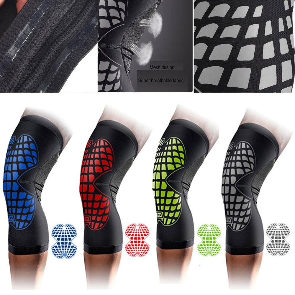 C F Nike Elastic Sports Leg Knee Support Breathable Wrap Protector Knee Pad Sleeve Sports Gym Patella Guard 5colors Siz Knee Support Sport Gym Sports Equipment