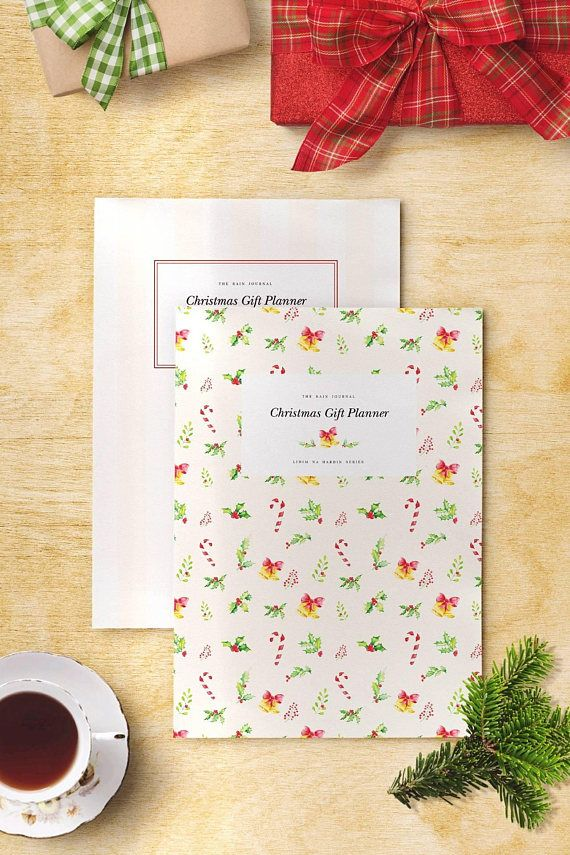Christmas Gift Planner Bundle Instant Download - christmas wish list paper