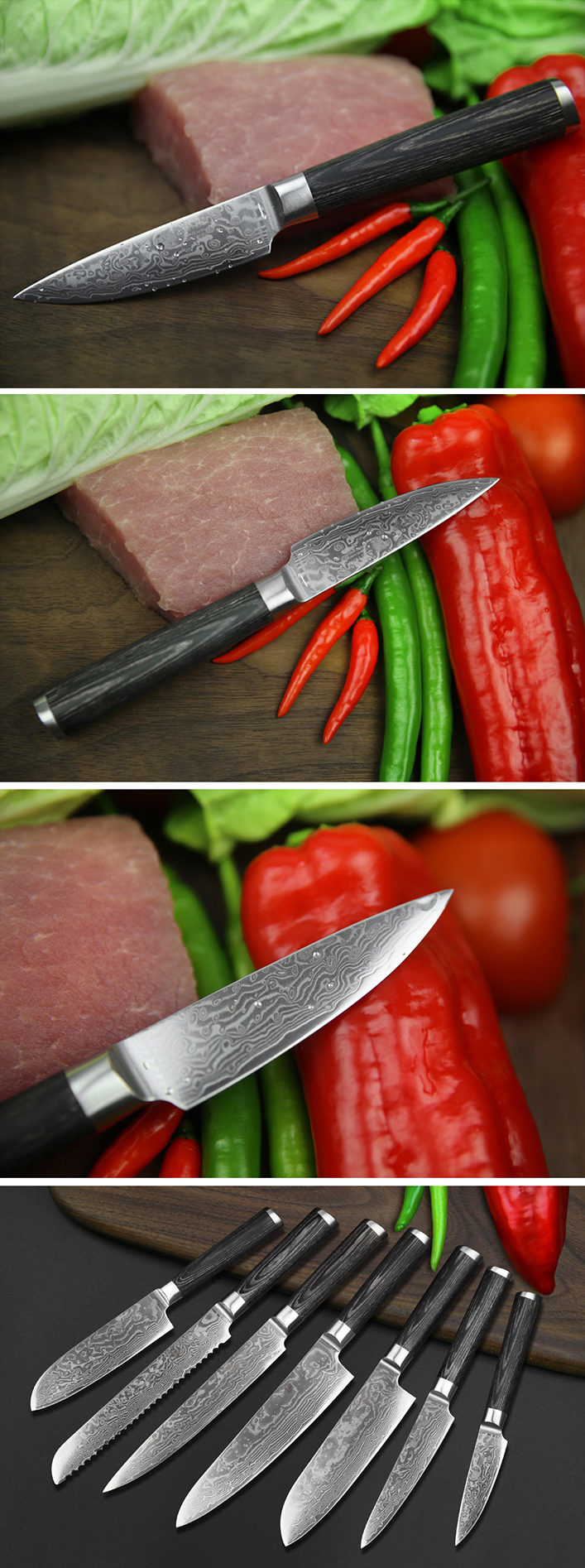 And there are a few types of knives that every kitchen needs then