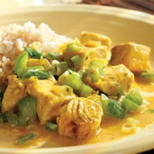 Easy and Light Curried Fish