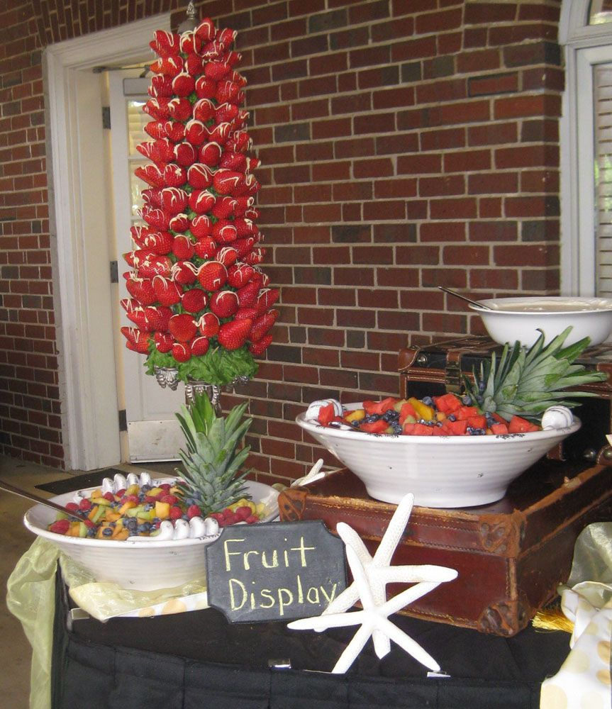 Fruit Display Wedding Reception Food Beverage Ideas Pinterest