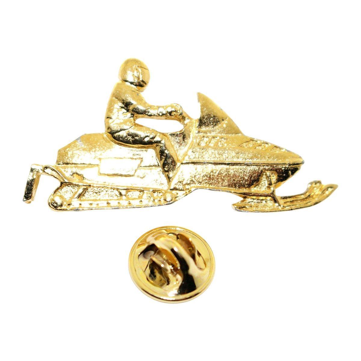 Snowmobile Pin ~ 24K Gold ~ Lapel Pin