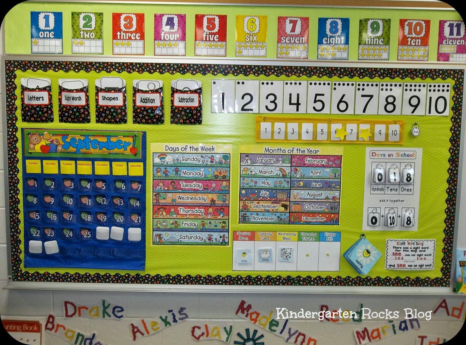 Kindergarten Calendar Wall : Kindergarten rocks … reading