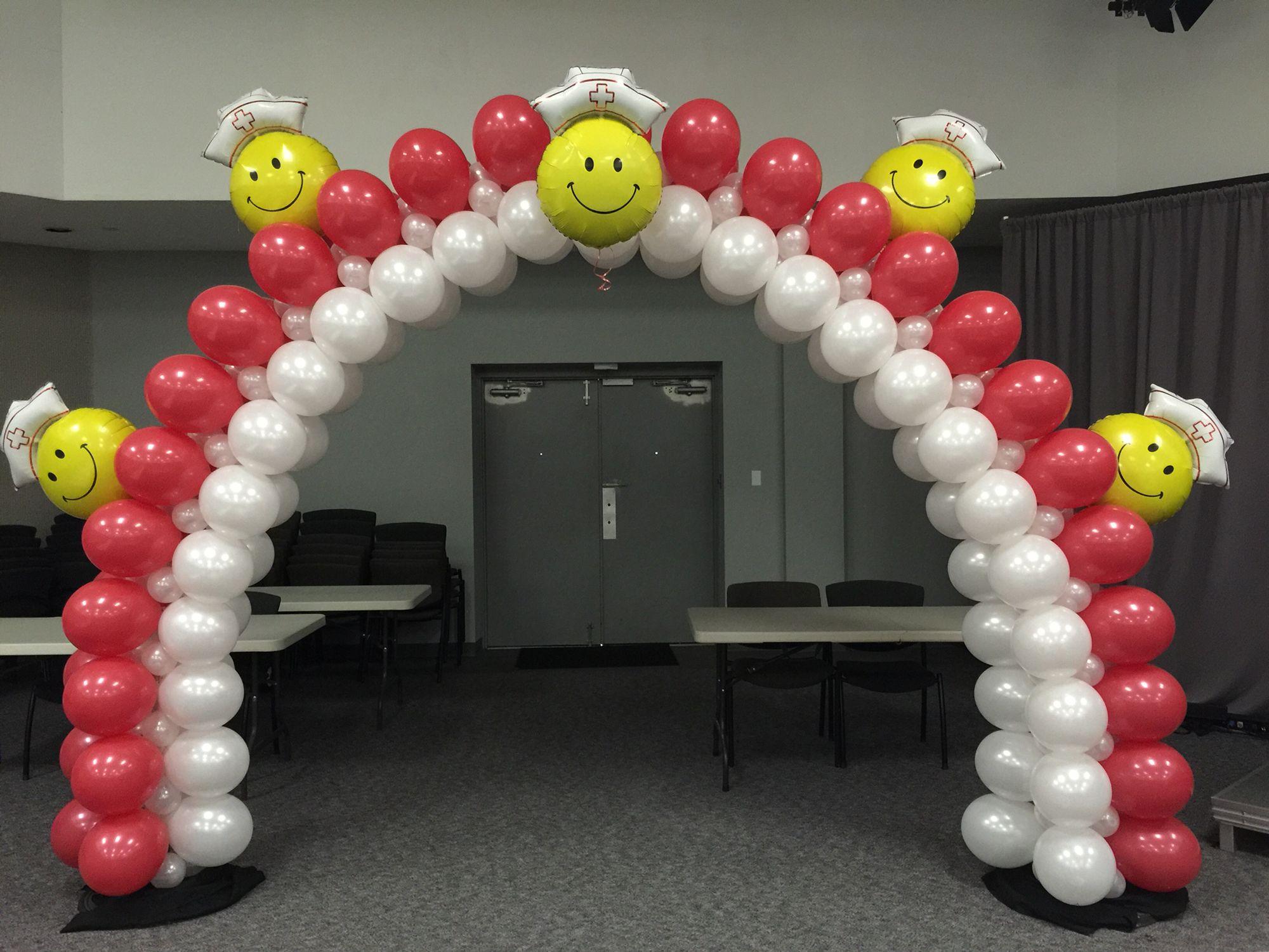 Nurse balloon arch Pinterest
