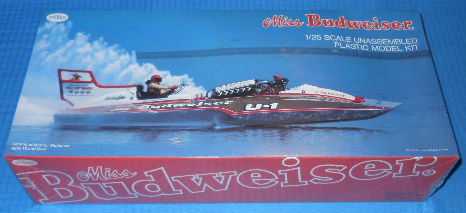 Miss Budweiser Unlimited Hydroplane-1/25 Scale Kit-NEW-FS