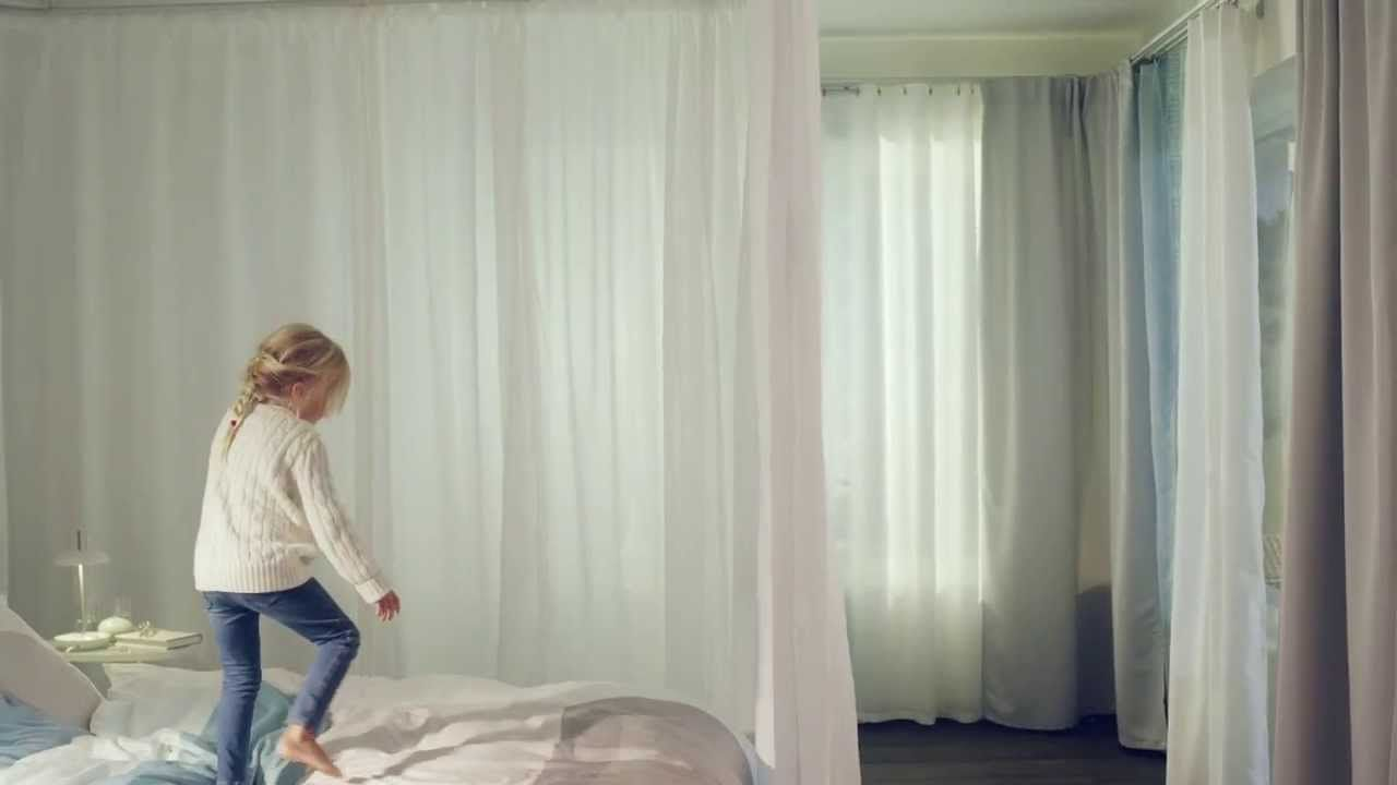 Hang curtains with curtain tracks inspiration video home styling