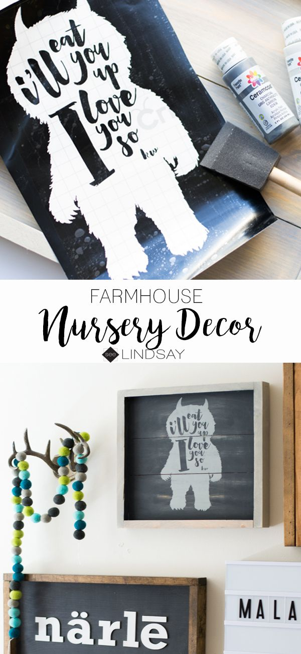 Create your own Farmhouse style baby nursery art with your Cricut ...