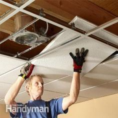 Drop Ceiling Installation Tips How to Install Drop Ceiling Tiles  Sometimes installing a drop ceiling is your best bet Our pro will give you all the tips you need