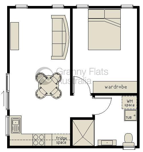 1 bedroom granny flat archives granny flats australia for Granny flat floor plans 1 bedroom