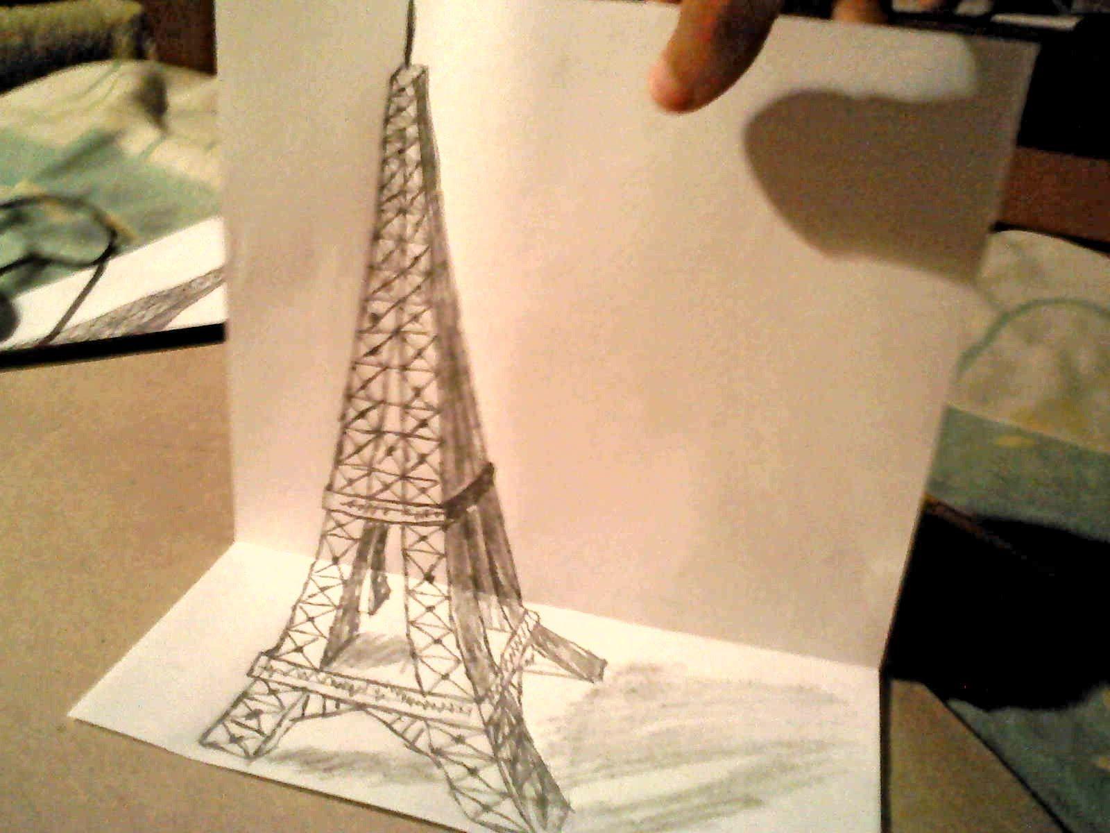 Como Dibujar La Torre Eiffel 3d Dibujo 3d Torre Eiffel Dibujo Torre Eiffel Dibujos 3d