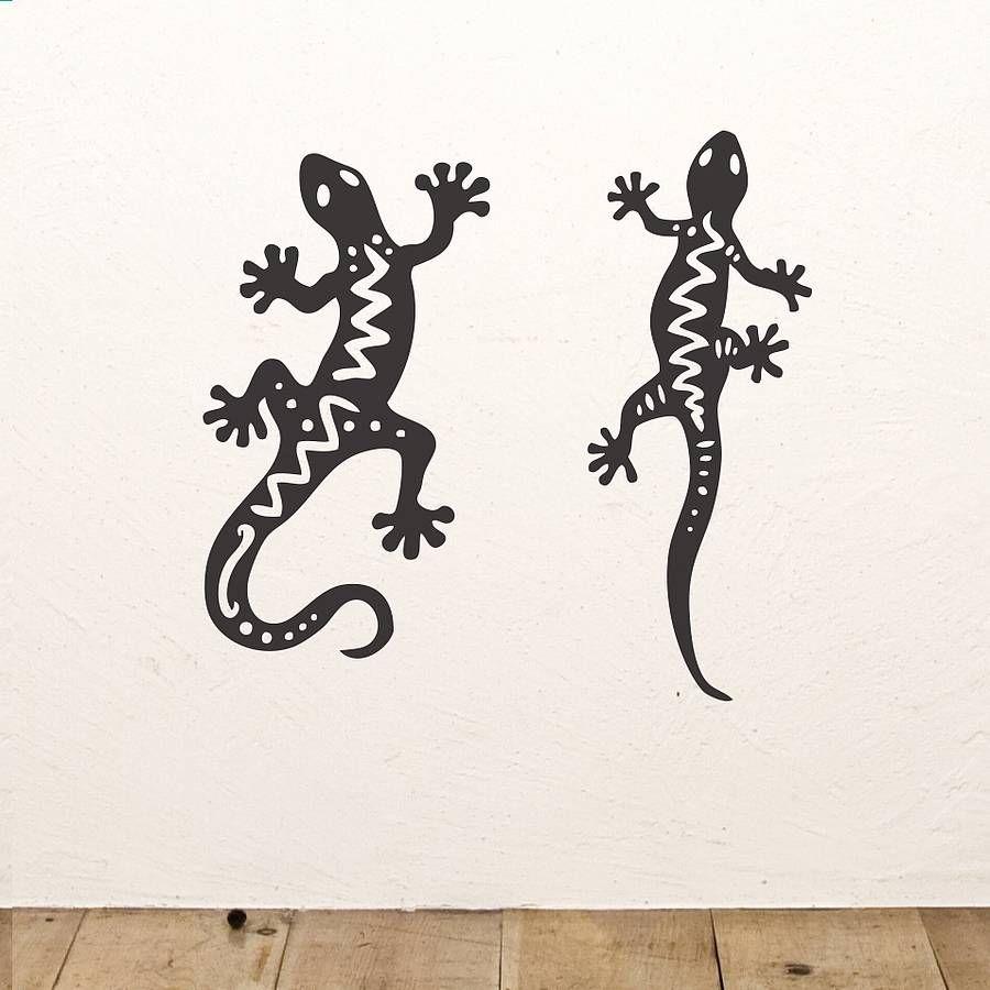 Gecko wall sticker set geckos wall sticker and walls
