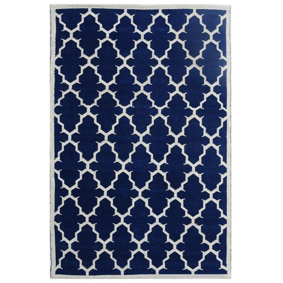 Jali Handmade Hand-Woven Blue Area Rug | Wayfair UK