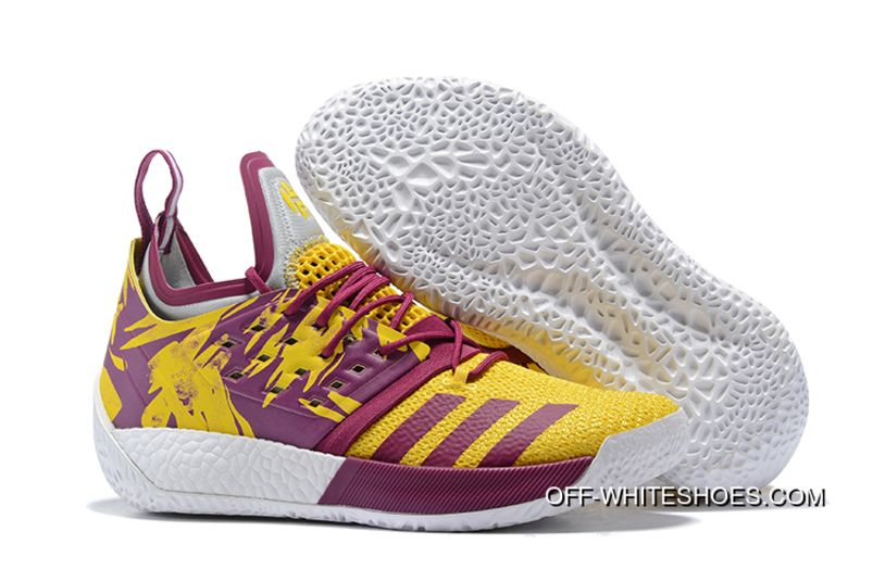 new product 8688e 9c27a Free Shipping Adidas Harden Vol.2 Yellow Purple