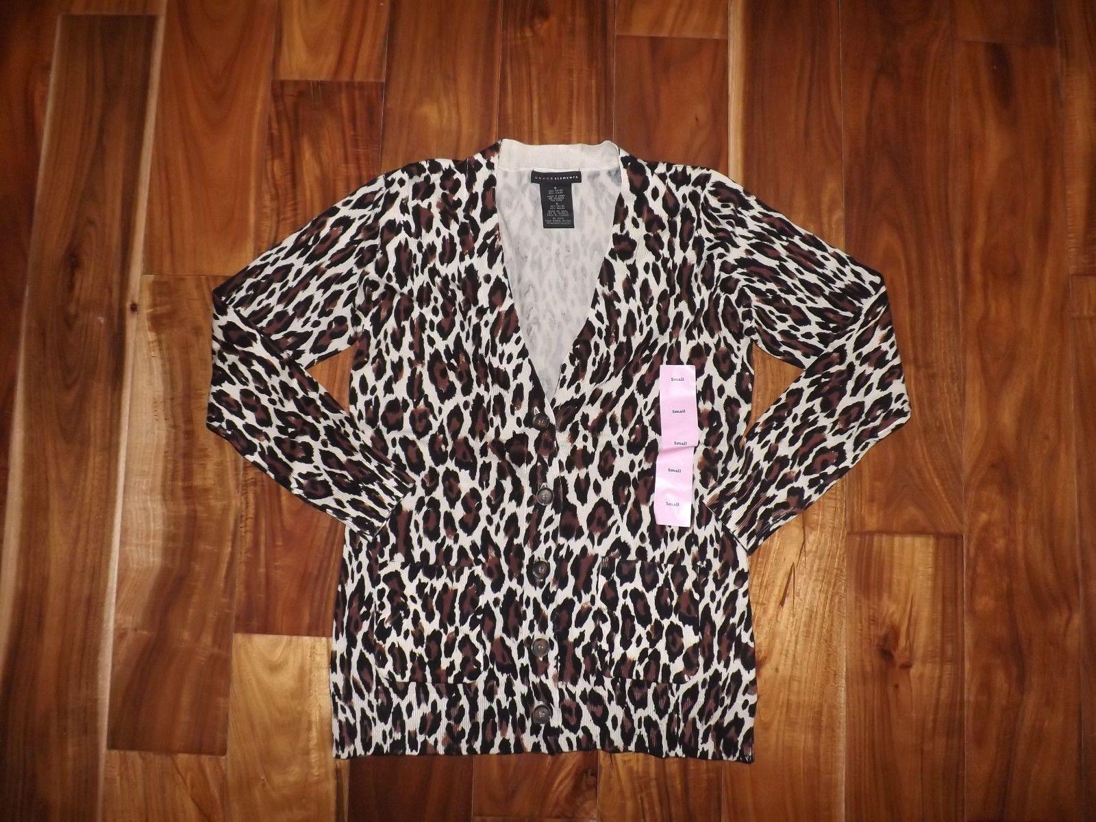 NWT Womens Grace Elements Brown Tan Leopard Print Boyfriend ...