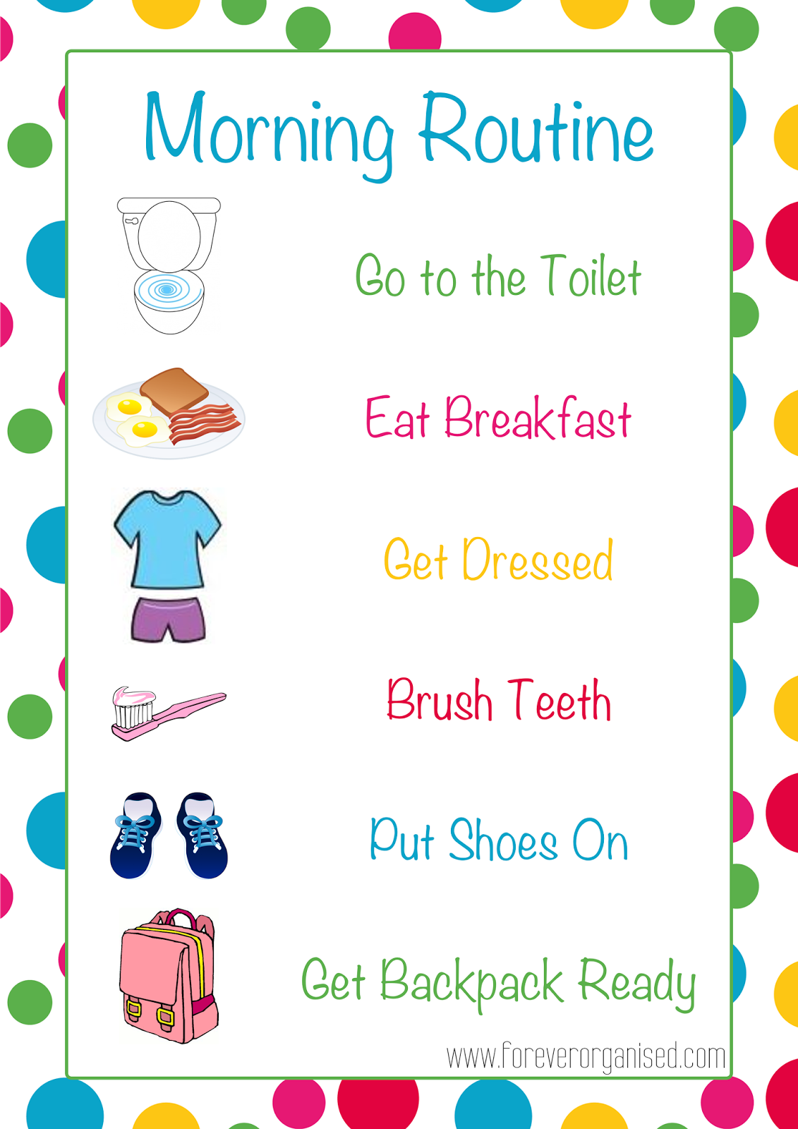 Pin On Daily Routine Chores Discipline Chart