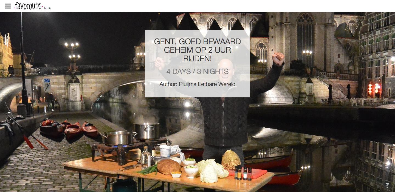 GENT, GOED BEWAARD GEHEIM OP 2 UUR RIJDEN! by Pluijm's Eetbare Wereld. http://www.peecho.com/print/en/77600
