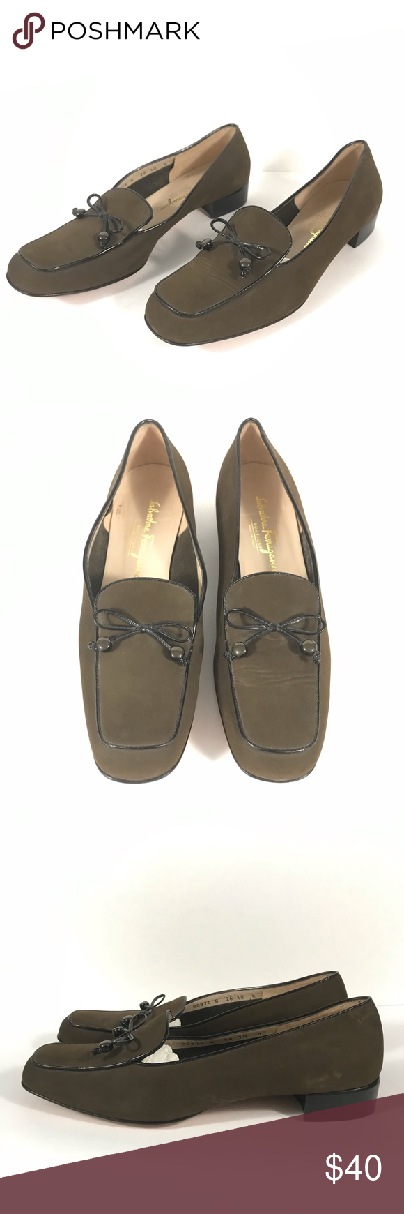 Salvatore Ferragamo Boutique Suede Loafers Suede Shoes Women Brown Suede Loafers Suede Loafers