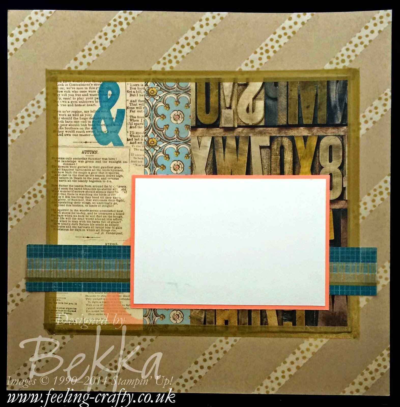 How to scrapbook uk - Washi Tape Fun Scrapbook Page By Stampin Up Uk Independent Demonstrator Bekka Check
