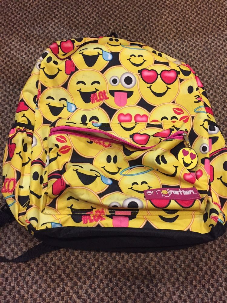 Emoji backpack school  fashion  clothing  shoes  accessories   unisexclothingshoesaccs  unisexaccessories (ebay link) 454e9877d068