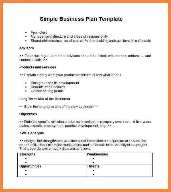 12 easy business plan sample bussines proposal 2017 for basic