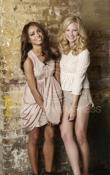 Kat Graham and Candice Accola as Penny Harrison and Indiana Gaffney