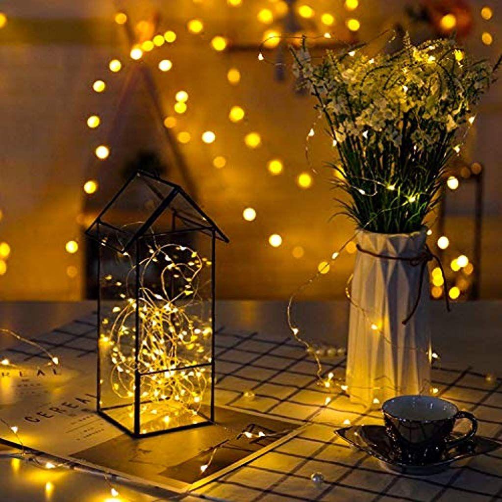 200 Led Lichterkette Usb Golwof Solar Lichterkette Aussen Mit Schalter 8 Modi 20m Kabeln Wasserd Dekorative Lichterketten Led Lichterkette Batterie Lichterkette