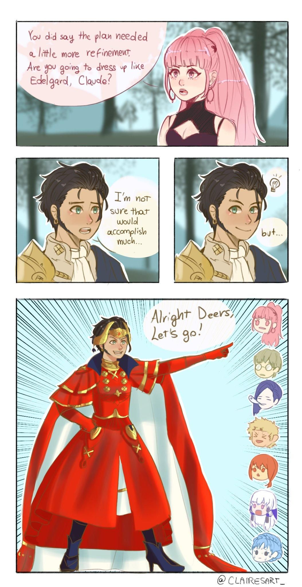 Are You Going To Dress Up Like Edelgard Claude Fire Emblem