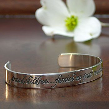Grandchildren Quote Bracelet #grandchildrenquotes
