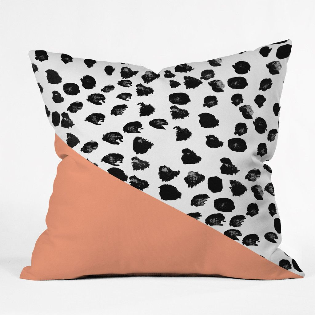 Rebecca allen animal and peach throw pillow deny designs home