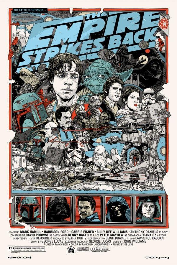 Affiches de Starwars en bande-dessinée - via http://bit.ly/epinner