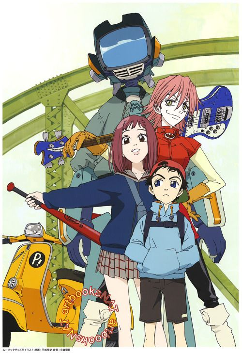 FLCL (フリクリ)Colorful card art work from The FLCL Archives (eBay - anime storyboard