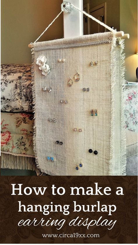 Photo of How do I create a hanging burlap earring display? – In this post de …