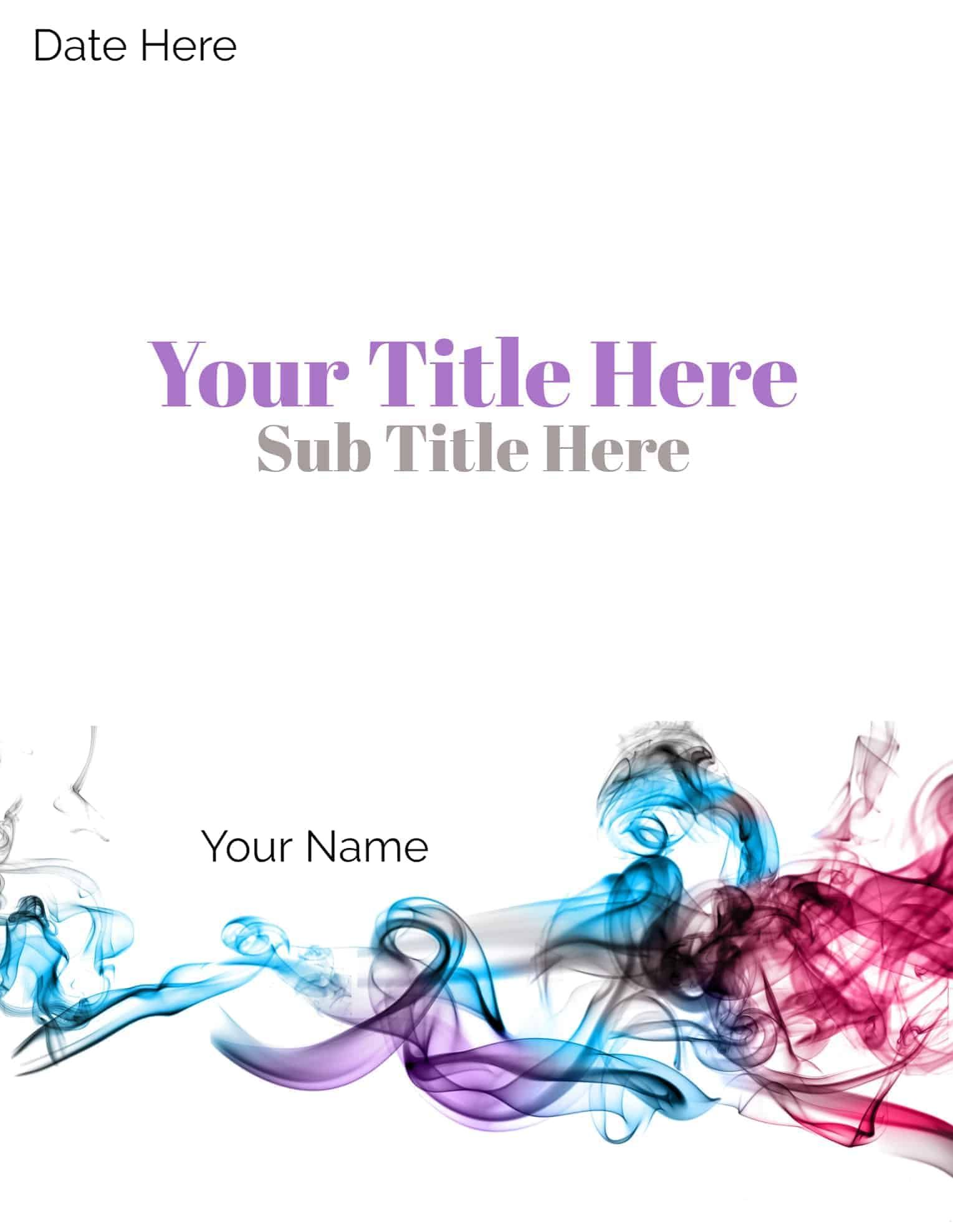 Free printable cover pages that you can edit online. Add