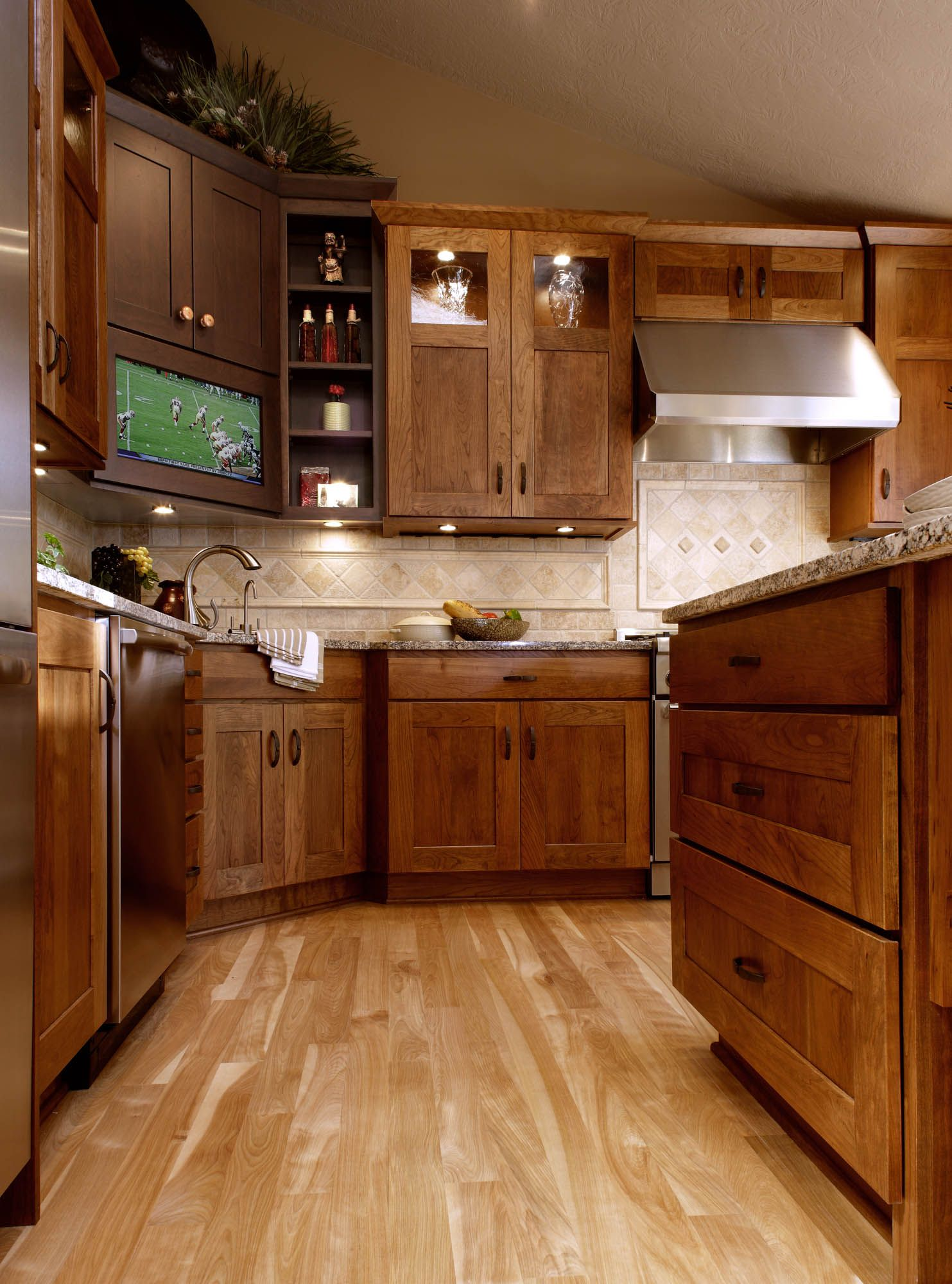 Stained kitchen cabinets in Truffle and Coffee by ...