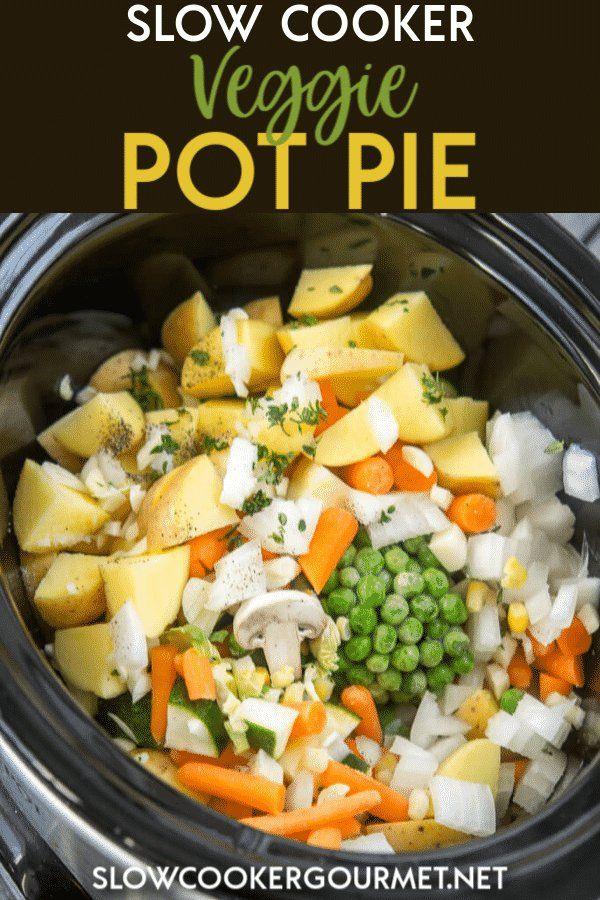 Photo of Slow Cooker Veggie Pot Pie