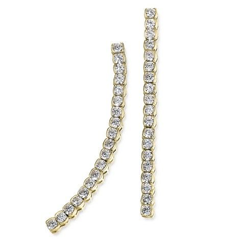 #earrings  23% OFF. http://bucksme.com/share/4282  An elegant cascade of simulated Diamonds are the perfect accessory to any evening occasion. Set in an 18ct. Gold clad setting which boasts 38 Tru-Diamonds™ gems.