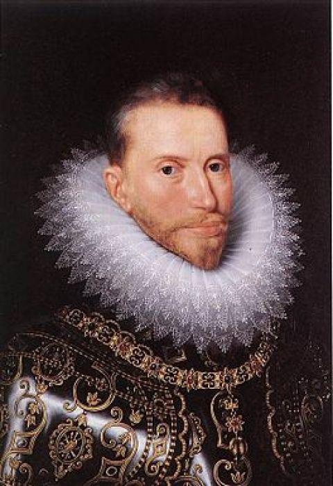 Aartshertog Albrecht.  Meer info vindt u op: http://www.mysterievandebouwmeester.be/nl/historiek/aartshertogen-albrecht-legt-zijn-kardinaalstitel-naar-bij-olv-halle/