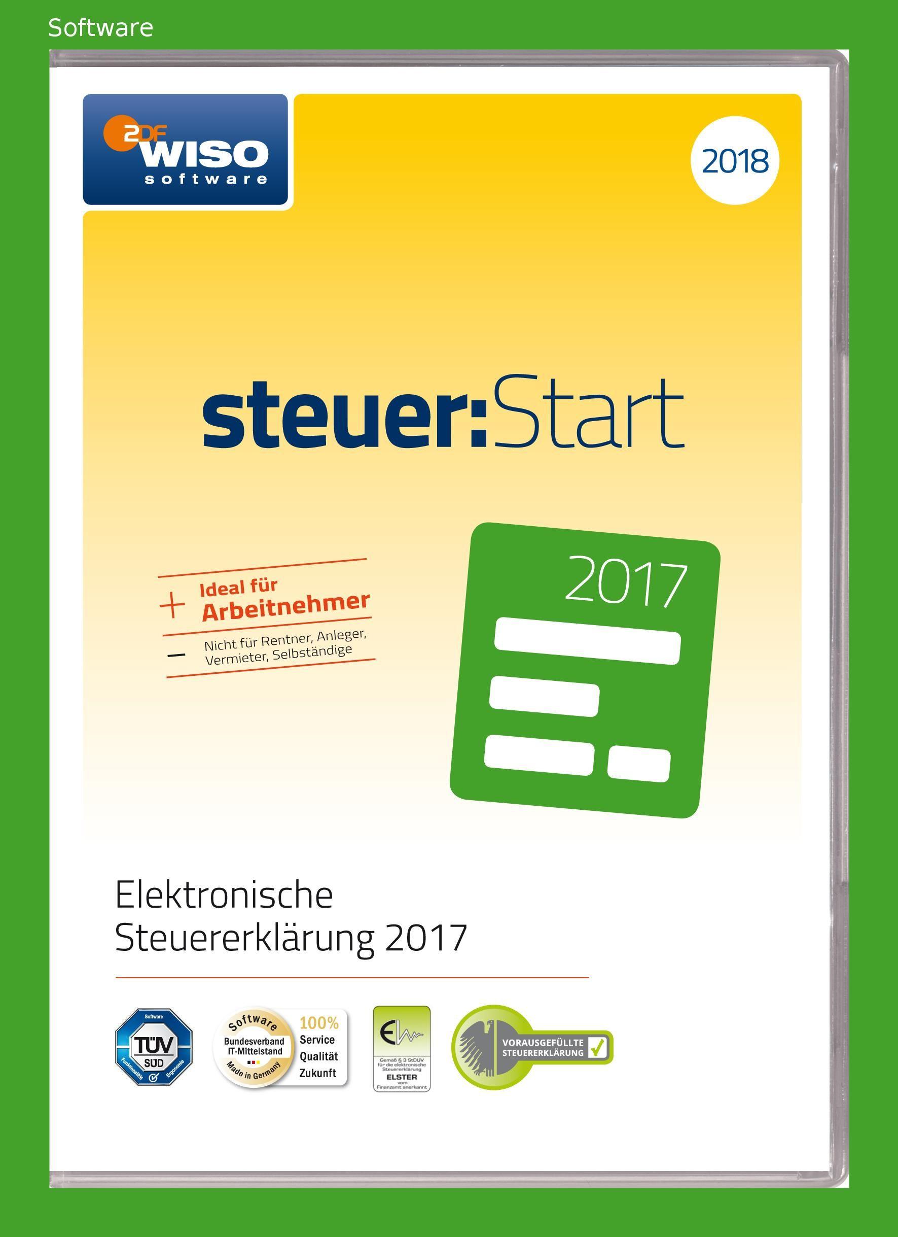 Wiso Steuer Start 2018 Fur Steuerjahr 2017 Online Code Rentner