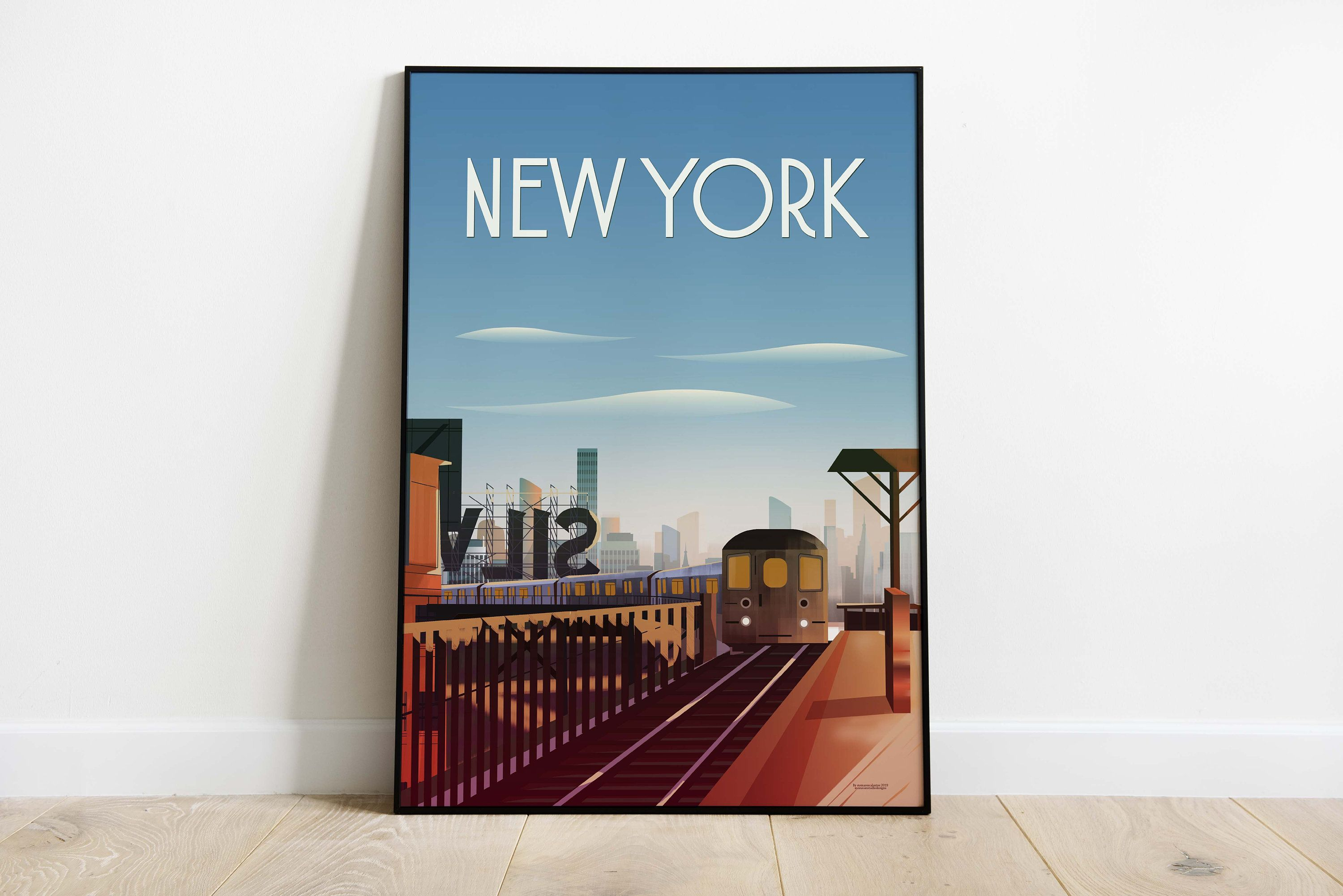 New York City Travel Poster Travel Poster Wall Art Sizes Inches 8x10 12x16 12x18 16x20 18x24 24x36 New York City Travel Travel Posters City Travel